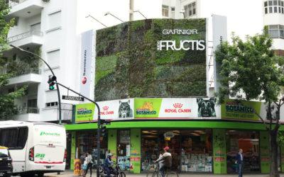 Acción especial en un gran formato para el lanzamiento de la nueva línea de productos FRUCTIS de Garnier Argentina